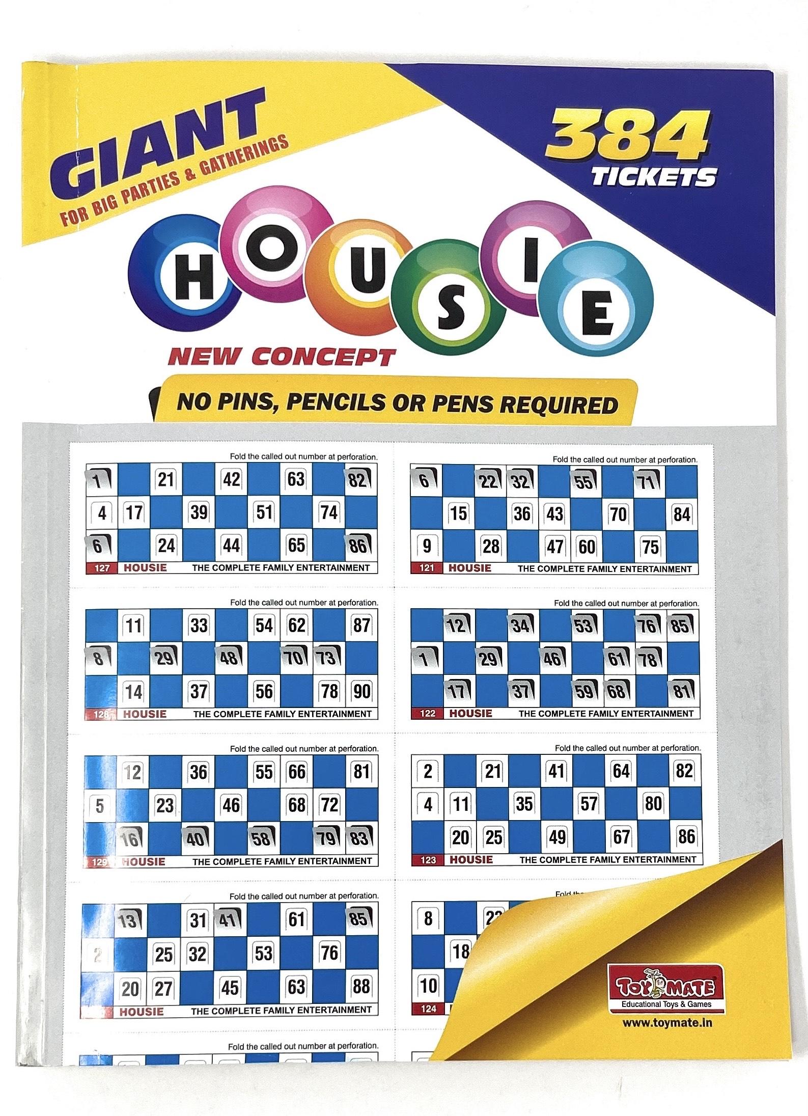 Housie Book – 384 Tickets
